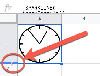 Make the formula bar wider in Google Sheets