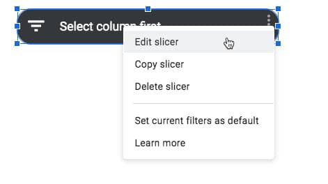 Slicer Settings Menu