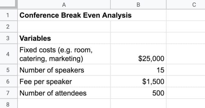 Goal Seek Variables in Google Sheet