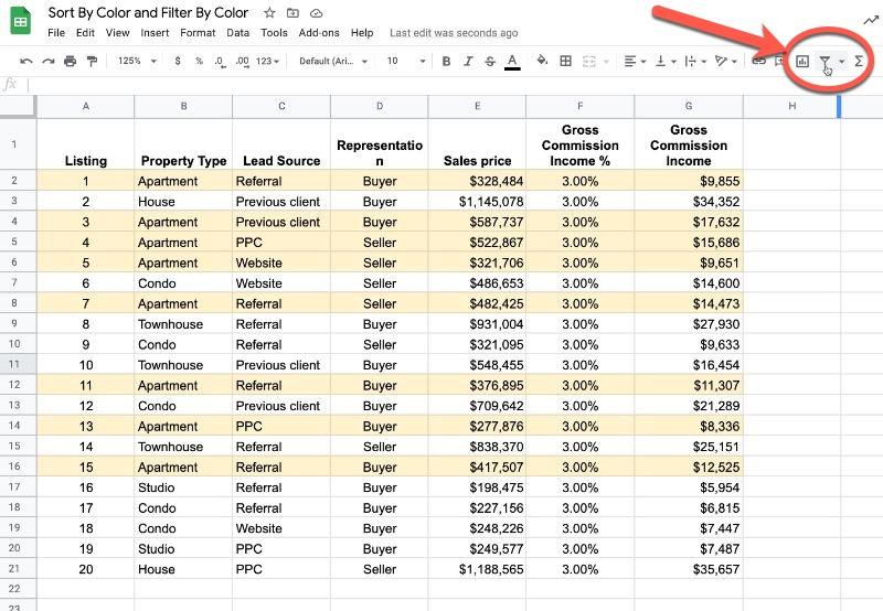 Google Sheets dataset