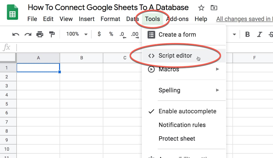 How To Connect Google Sheets To A Database