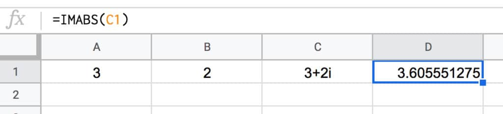 Complex Number size in Google Sheets