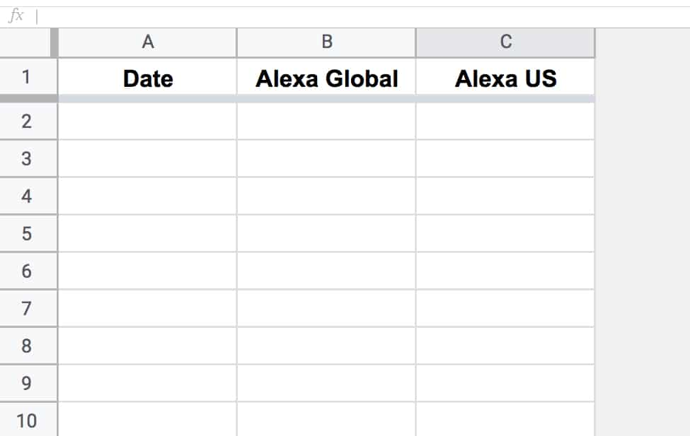 Google Sheets blank archive