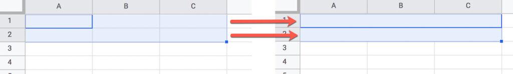 Horizontal Merge Cells In Google Sheets