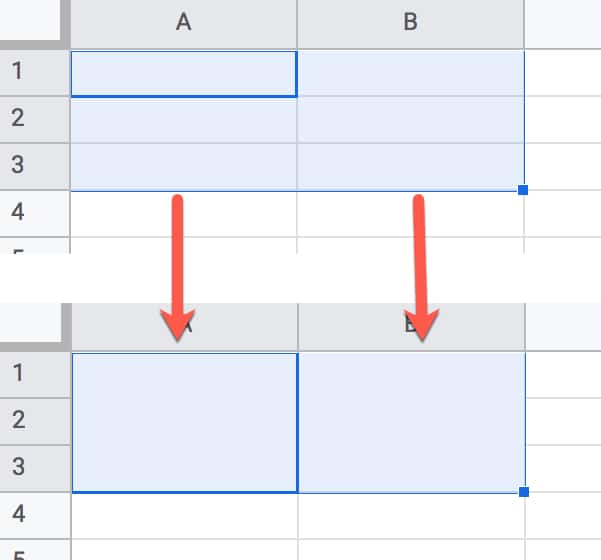 Vertical Merge Cells In Google Sheets
