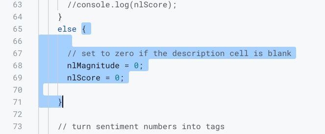 Apps Script IDE select To Bracket