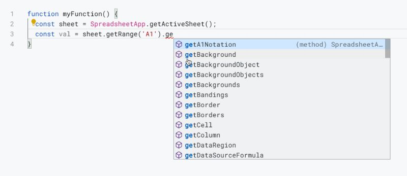 Apps Script IDE trigger Suggest
