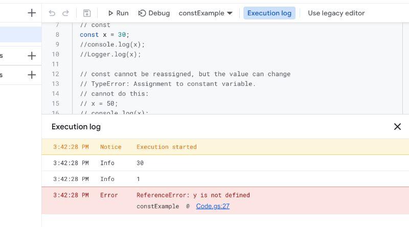 Apps Script Logs