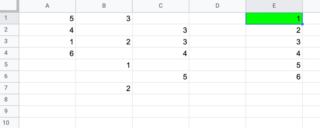 Formula challenge 5 Data