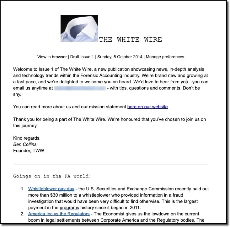 Forensic Accounting Newsletter