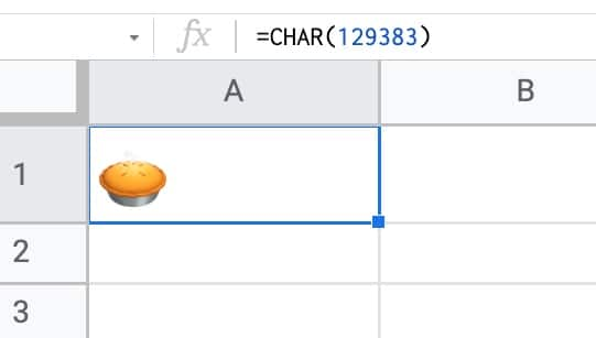 Pie in a Google Sheet