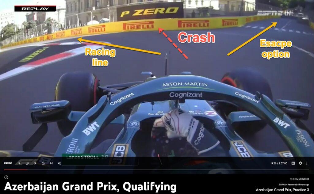 Formula 1 crash choice