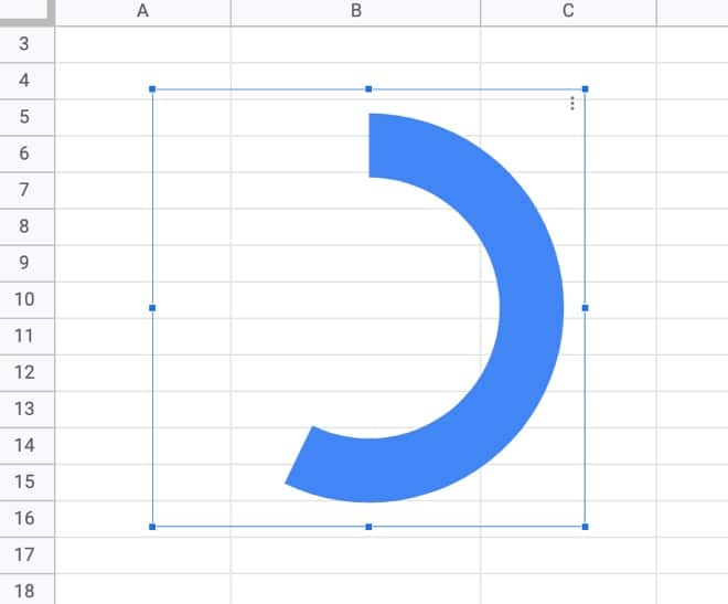 Donut chart in Google Sheets