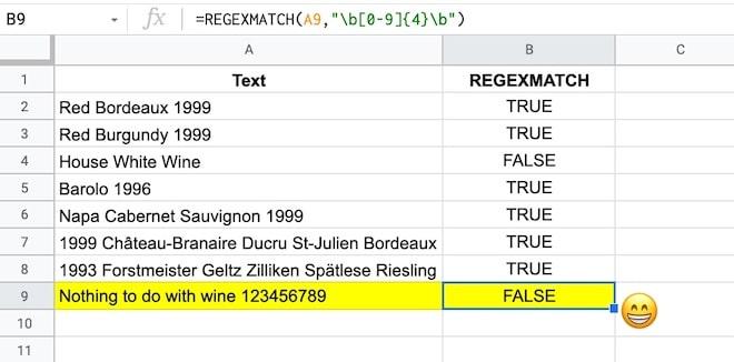 REGEX Google Sheets